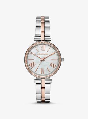 Michael Kors Mini Maci Two-Tone Watch