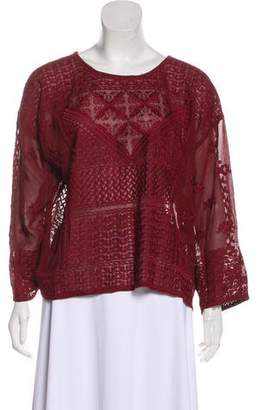 Isabel Marant Embroidered Silk Blouse