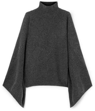 Givenchy Cashmere Turtleneck Poncho - Gray