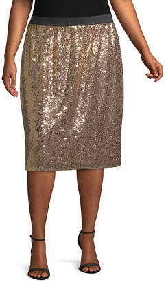 WORTHINGTON Worthington Sequin Skirt - Plus