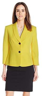 Kasper Women's 2 Button Stretch Crepe Jacket