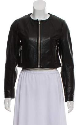 Veda Cropped Leather Jacket