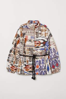 H&M Jacket with Tie Belt - White