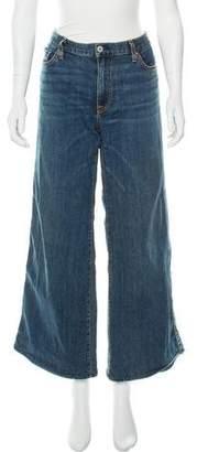 Nili Lotan Ena Mid-Rise Wide-Leg Jeans