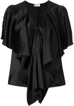 Lanvin draped V-neck blouse