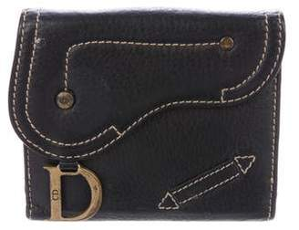 Christian Dior Leather Compact Wallet