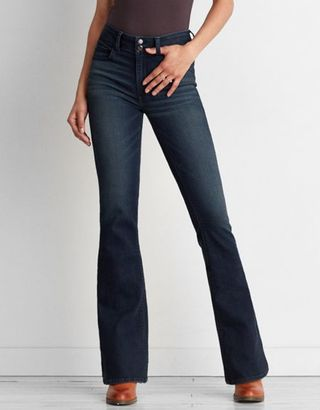 American Eagle Outfitters AE Denim X Cafe Hi-Rise Artist? Flare