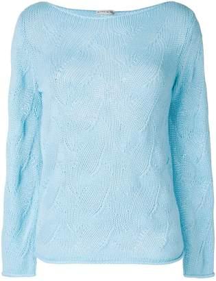Etro open knit design sweater