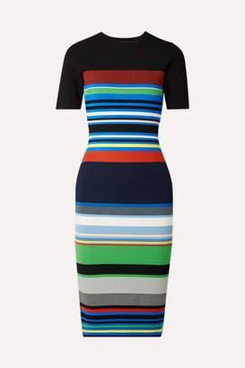 Diane von Furstenberg Striped Stretch-knit Dress - Blue