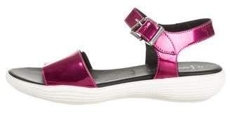 Aquatalia Metallic Flat Sandals
