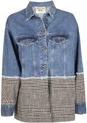 Semi-Couture Semicouture Striped Pattern Denim Jacket