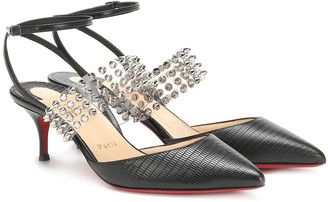 Christian Louboutin Levita 55 leather slingback pumps