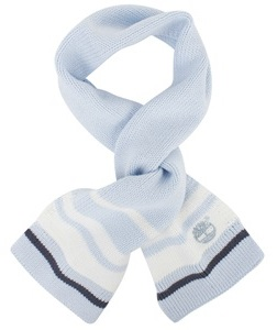 Timberland Kids Baby blue stripe scarf
