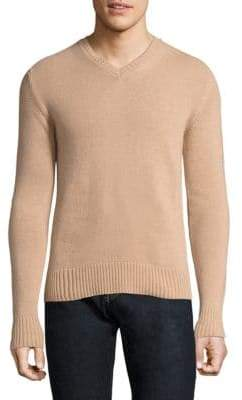 Officine Generale Knitted V-Neck Sweater