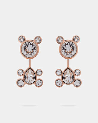 Ted Baker AKASHA Crystal bear earrings