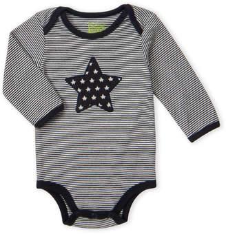 Baby Essentials Kapital K (Newborn Boys) Stripe Star Applique Bodysuit