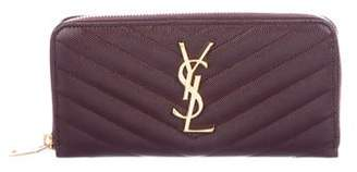 Saint Laurent Monogram Zip-Around Wallet