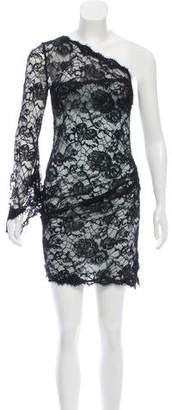 Emilio Pucci Lace One-Shoulder Dress