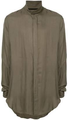 Julius band collar shirt