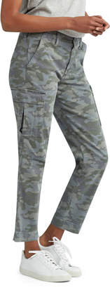 Hudson Relaxed Camo-Print Cropped Cargo Pants