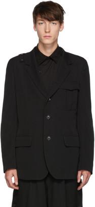 Yohji Yamamoto Black Notch Blazer