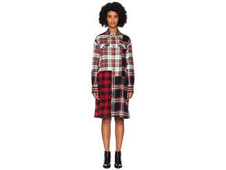 McQ Patched Tartan Shoulder Dress