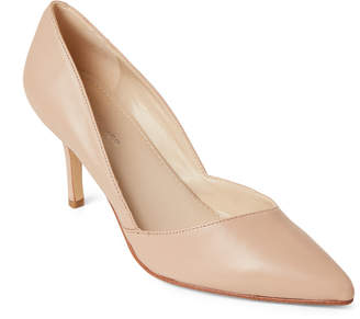 Marc Fisher Light Natural Leather Pointed Toe Pumps