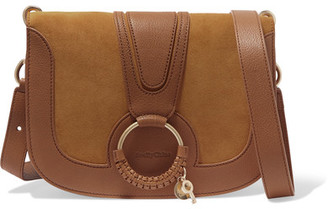 See by Chloé - Hana Medium Leather And Suede Shoulder Bag - Tan $475 thestylecure.com