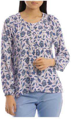 Regatta NEW Beaded Yoke Blouse Lilac