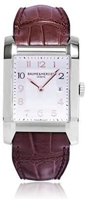 Baume & Mercier Brown Leather Strap Dial Women's Watch