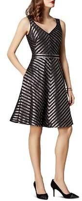 Karen Millen Metallic Striped Dress