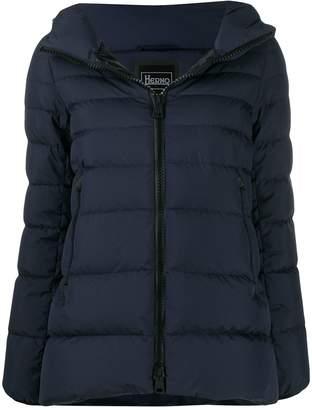 Herno short hooded zip-up jacket