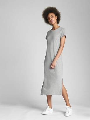 Gap Short Sleeve Midi T-Shirt Dress