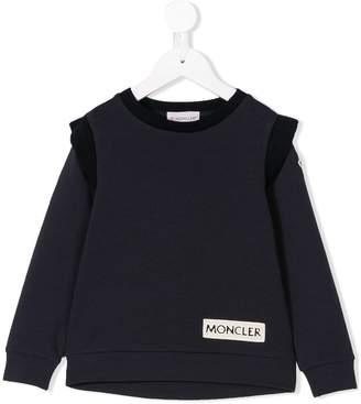 Moncler ruffled detail sweatshirt