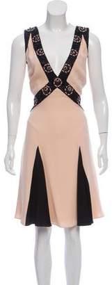 Temperley London Embellished Silk Dress