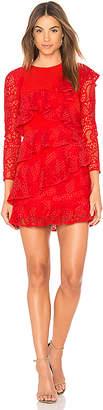 Aijek Mae Ruffled Lace Dress