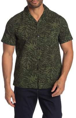 J.Crew J. Crew Leaf Print Short Sleeve Slim Fit Shirt