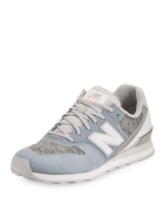 New Balance 696 Knit Lace-Up Sneaker, Blue $89.95 thestylecure.com