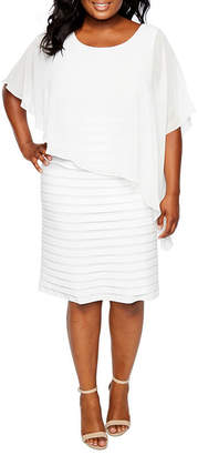 JCPenney Scarlett Elbow-Sleeve Cape Dress - Plus
