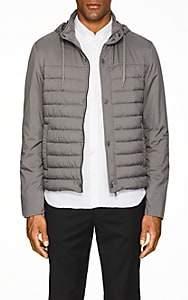 Herno Men's Hooded Tech-Fabric Puffer Jacket-Dark Gray