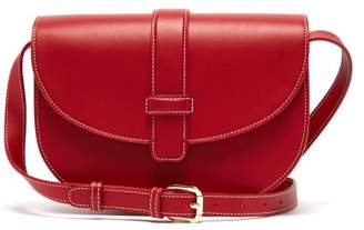 A.P.C. Eloise Leather Saddle Cross Body Bag - Womens - Red