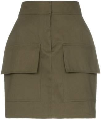 Michael Lo Sordo high waist utilitarian cotton mini skirt