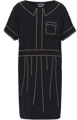 Moschino Studded Crepe Mini Dress