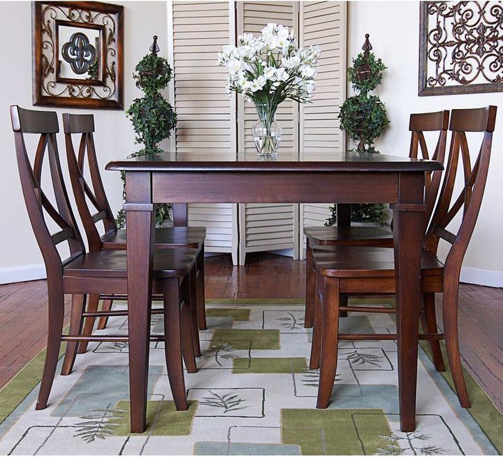 Hudson Carolina Cottage Antique Black Dining Table Top