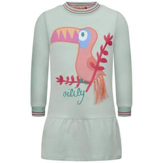Oilily OililyGreen Toucan Applique Hanouk Sweater Dress