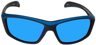 Xersion Matte Wrap Around Sunglasses with Blue Multilayered Mirrored Lens