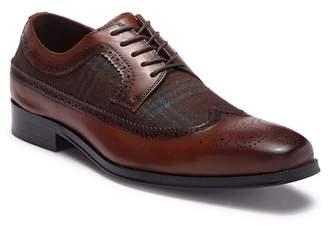 Tallia Sergio Contrast Plaid Leather Wingtip Oxford