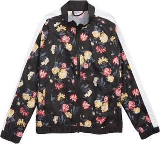 Zella Flower Print Stripe Bomber Jacket