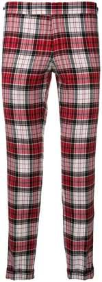 Thom Browne Variegated Check Skinny Wool Trouser