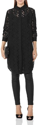 REISS Carda Lace Tunic $345 thestylecure.com